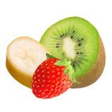 Frische Früchte der Mischung lokalisiert auf weißem Hintergrund lizenzfreies stockbild
