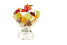 Frische Früchte mit Joghurt Lizenzfreie Stockfotos