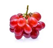 Frische Frucht der roten Traube lokalisiert auf weißem Hintergrund Stockfotos