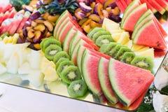 Frische Frucht, Heiratsbuffet lizenzfreies stockfoto
