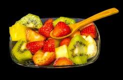 Frische Frucht Macedonia schnitt in Würfel Stockfotografie