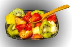 Frische Frucht Macedonia schnitt in Würfel Stockbild