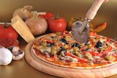 Frische gebackene Pizza stockbild