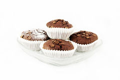 Frische gebackene Schokoladenmuffins Stockbild