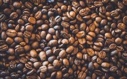 Frische gebratene organische Kaffeebohnen lizenzfreie stockfotos