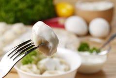Frische gekochte Fleischmehlklöße Lizenzfreies Stockfoto