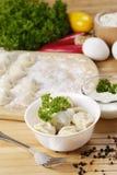 Frische gekochte Fleischmehlklöße Stockfoto