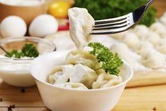 Frische gekochte Fleischmehlklöße Lizenzfreie Stockfotos