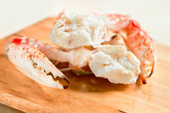 Frische gekochte und gekleidete Krabben lizenzfreie stockfotografie
