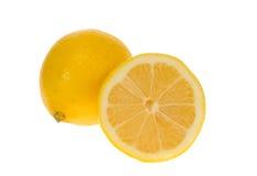 Frische gelbe Zitrone stockbilder
