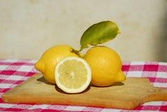 Frische gelbe Zitronen Lizenzfreie Stockfotografie