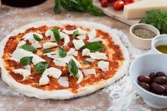 Frische gemachte Hauptpizza Stockbild