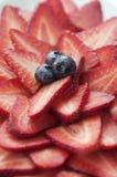 Frische geschnittene Erdbeeren Stockfoto