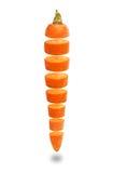 Frische geschnittene Karotten Stockbild