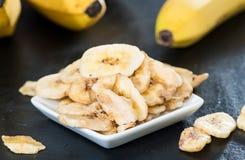 Frische getrocknete Bananen-Chips Lizenzfreie Stockfotos