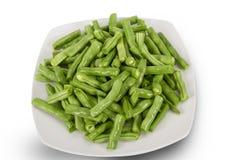 Frische grüne Bohnen Stockfotos