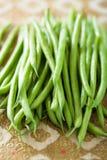 Frische grüne Bohnen Stockfoto
