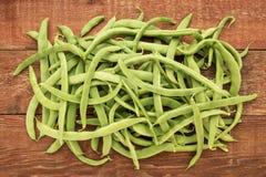 Frische grüne Bohnen Lizenzfreies Stockfoto