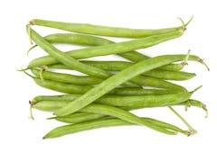 Frische grüne Bohnen Stockbild