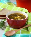 Frische grüne Gemüsesuppe Lizenzfreies Stockfoto