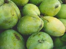 Frische grüne Mangofrüchte Stockfotos
