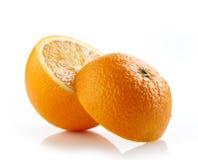Frische halbe Orange Stockbild
