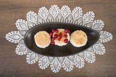 Frische heiße geschmackvolle Kekse Stockbild