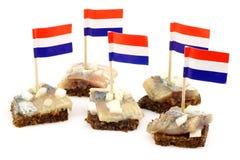 Frische Heringe (holländisches Hollandse Nieuwe) Lizenzfreies Stockfoto