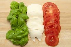 Frische italienische Nahrungsmittelmarkierungsfahne Stockfotos