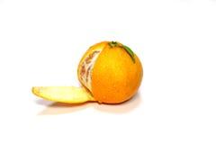 Frische japanische Orange im Weiß Stockfotografie