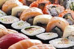 Frische japanische Sushi Stockfoto