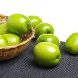 Frische Jujuben Es nannte auch die chinesische grüne Jujube, es wird produziert in China Taiwan lizenzfreies stockbild