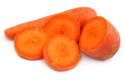 Frische Karotte getrennt Stockbild