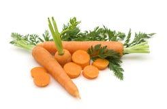 Frische Karotten der Scheibe Lizenzfreies Stockbild