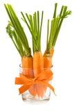 Frische Karotten im Glas Stockfotos