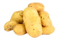 Frische Kartoffeln lokalisiert Stockfotografie