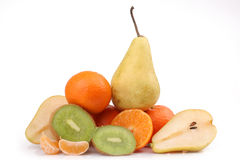 Frische Kiwi, Birne, orange Lizenzfreie Stockfotografie
