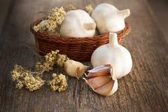 Frische Knoblauch-gesunde Nahrung Stockfotografie