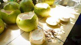 Frische Kokosnuss in den Philippinen lizenzfreie stockfotos