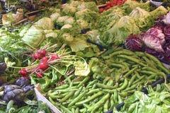 Frische Kräuter und Gemüse Stockfoto