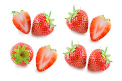 Frische lokalisierte Erdbeere Lizenzfreies Stockfoto