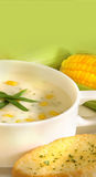 Frische Maissuppe Stockfotos