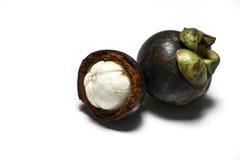 Frische Mangostanfrucht Lizenzfreies Stockbild