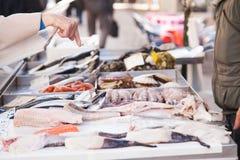 Frische Meeresfrüchte Bestellungs-Venedigs Stockfotografie