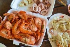 Frische Meeresfrüchte für Abendessen Stockbilder