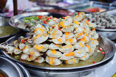 Frische Meeresfrüchte am Markt Lizenzfreies Stockfoto
