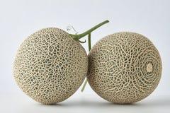 Frische Melone auf weißem Hintergrund stockbild