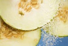 Frische Melone schneidet Underwater Lizenzfreies Stockbild