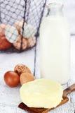 Frische Milchprodukte Stockbilder