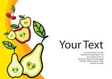 Frische Nahrungsmittelschablone Lizenzfreie Stockbilder